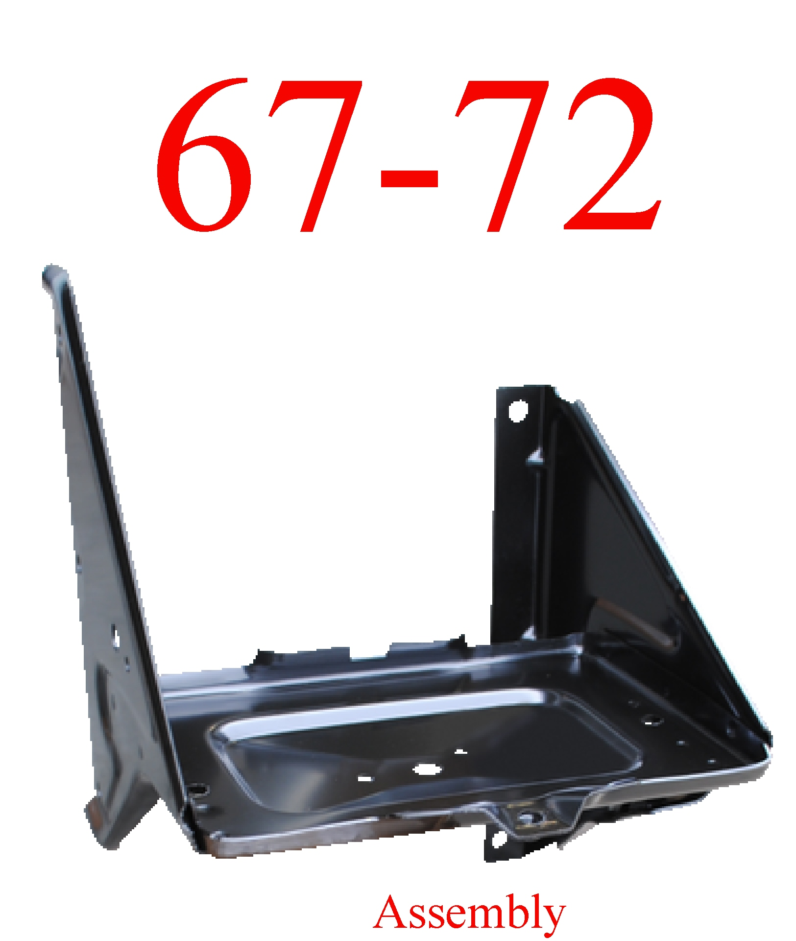 67-72 Chevy Battery Tray Assembly Without AC